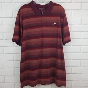 Banana Republic Striped Cotton Polo Shirt